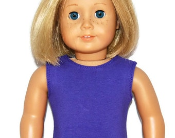"Purple Cotton Tank Top - Doll Clothes made to fit 18"" American Girl Dolls"