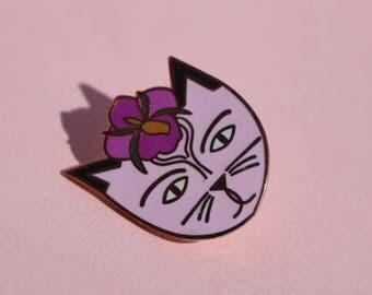 Georgia O'Cat Enamel Pin