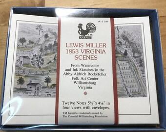 Note Cards / Lewis Miller / Virginia Scenes