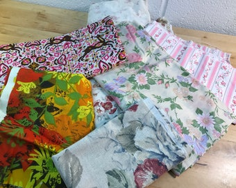 Fabric lot of Vintage pieces