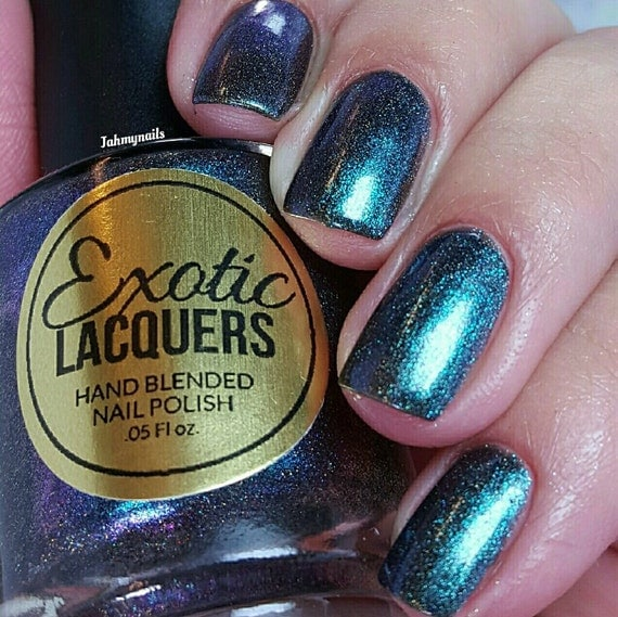 How Long To Let Nail Polish Dry Before Top Coat: Holographic Multi-Chrome Nail Polish From
