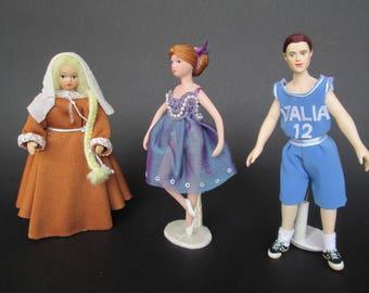 Miniature handmade doll in 1:12 scale for dollhouse by Paola&Sara Miniature - Dolls, dollshouse, 1/12