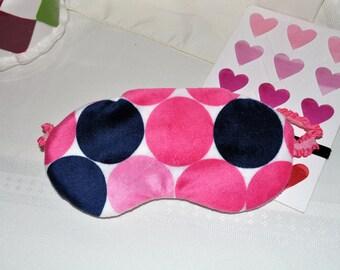 Minky Soft Big Dot Print Sleep Mask