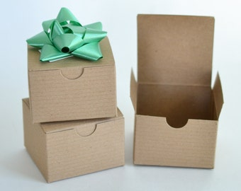 """Gift Boxes, 100 Paper Boxes, Party Favor Boxes, Kraft Boxes, Small Gift Boxes, Wedding Favor Boxes, Christmas Gift Packaging 3x3x2"""""""