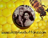 """Labyrinth movie Jareth and Sarah at the Ball - 1.25"""" or 1.5"""" - Button - Magnet - Keychain - 80's classics - David Bowie - King Jareth"""