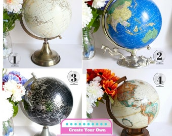 Custom Painted Globe, Medium