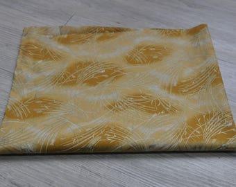 Japan kimono sakura yukata Fabric  1/2 yard gold