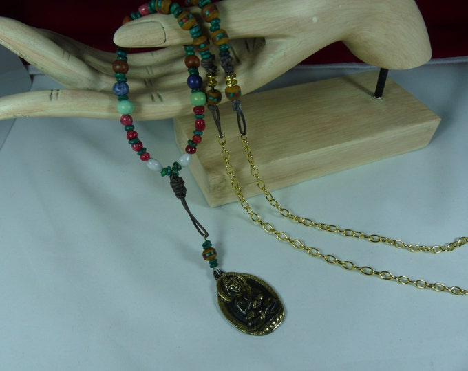 Buddha Amulet beads of hope long necklace