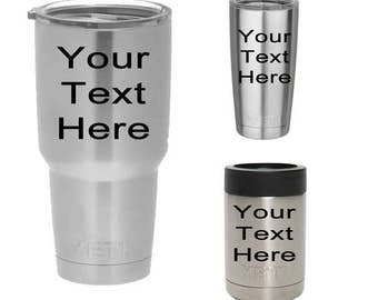 Custom Personalized Yeti Cup Decal - 20oz. 30oz. - Rambler, Colster, & Low Ball Ozark Rtic Tumbler
