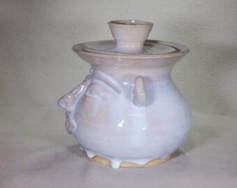 Weird Alfred Electric Blue Stoneware Cookie Jar.