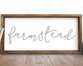 Farmstead Wood Sign