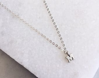 Silver Letter Necklace, Custom Initial, Sterling Silver, Delicate Necklace, Prom, Name Necklace, Initial Necklace, Layered Necklace,