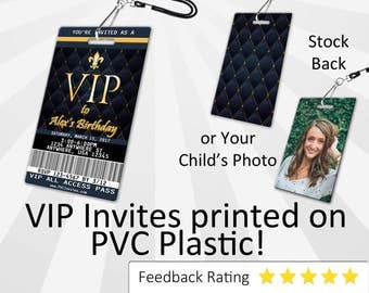 VIP Pass Invitation PLASTIC VIP Pass, Vip Pass Invitation, Birthday Invitation, Birthday Invite, Vip Pass Birthday Invitation