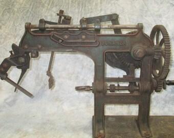 Bonanza Goodel Apple Peeler Corer Commercial Cast Iron Hand Crank Antique a