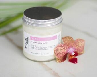 Whipped Body Butter Apricot - Organic Body Butter - Organic Body Lotion - Organic Moisturizer - Vegan Moisturizer - Paleo Skincare