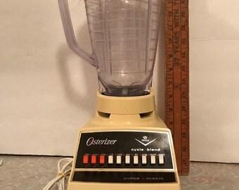 Vintage 1970's Harvest Gold Osterizer Pulse Matic Imperial 10-speed blender. #708