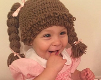 Cabbage patch wig, Halloween, baby wige,  costume, baby hat