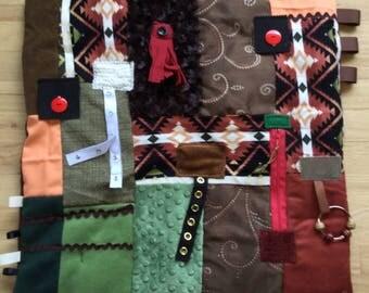 Alzheimer's Awareness | Stroke Rehab | Fidget Quilts for Alzheimer's | Dementia Blanket | Fidget Blanket | HORSE BLANKET by Restless Remedy