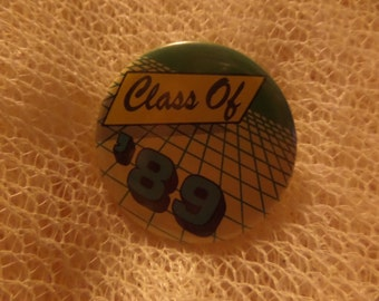 Vintage Class of 88 90 91 buttons or pins