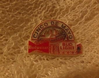 Vintage Budweiser Bud Light Bottle Cap Enamel promotional logo buttons or pins