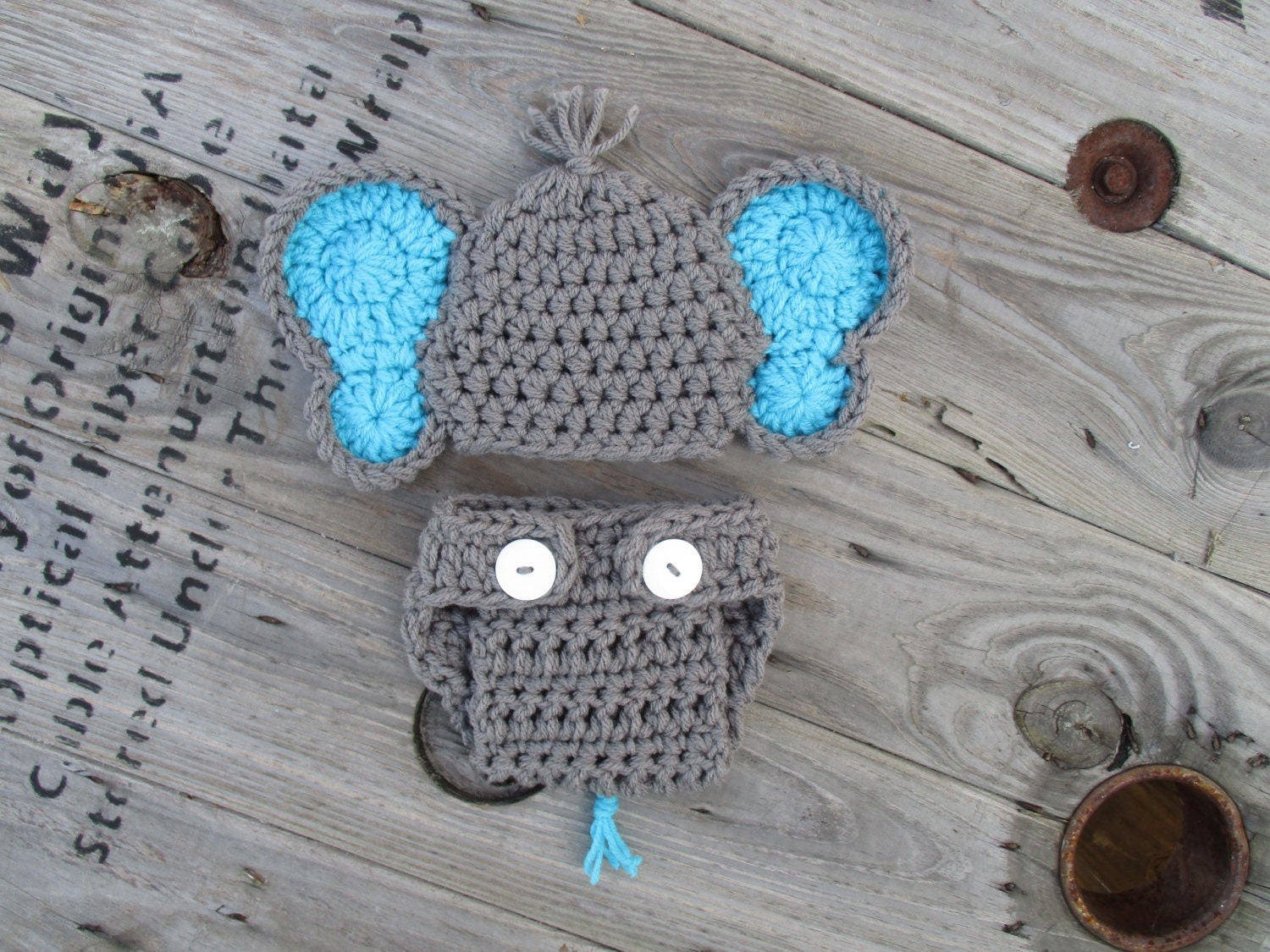 Crochet Baby Elephant Crochet Baby Outfit Knit Elephant Hat