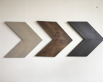 Large Rustic Wood Chevron Arrows CUSTOMIZABLE