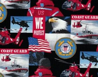 Military Fabric - Coast Guard - Sykel Enterprises Fabrics- 100% Cotton Fabric