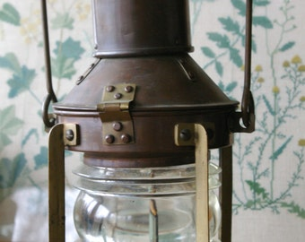 Vintage Brass Nautical Lantern