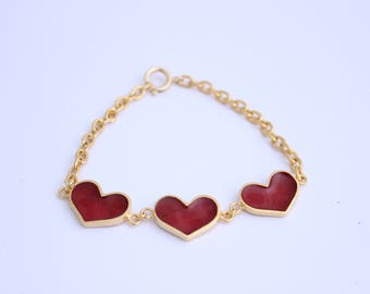 Goldplated Hearts Bracelet