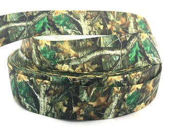 Camo ribbon, Camo grosgrain, Camouflage ribbon, Camouflage grosgrain, green camo ribbon, green tree ribbon, camo green ribbon, camo craft