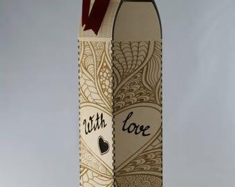 love heart wine-bottle gift box