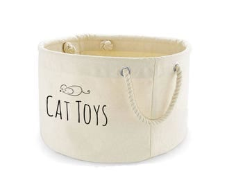 Cat Toys Basket, Cat Toys Storage Bag, Cat Toys Bin, Cat Toys Organiser, Pet Storage