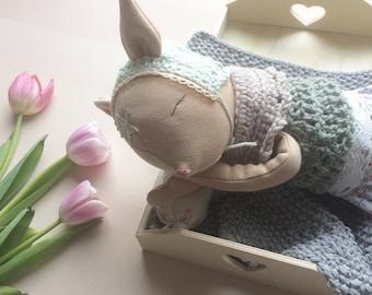 Mayafly handmade doll 'Rehkitz' heirloom dollmaker for kids