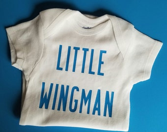 Little Wingman Baby Clothes, Wingman, Funny Baby, Aviation Baby, Pilot, Pilot Baby Clothes, Gender Neutral Baby Clothes, Wingman, Airman