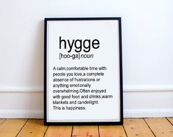 Hygge Definition Printable Poster Funny Wall Art Printable Decor Teen Room Funny Definition Word Decor Typography Print Dictionary Print