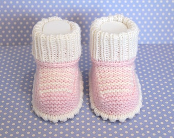 Pink Baby Sneakers Pink Booties, Funky Booties, Crib Shoes Baby Girl Booties Wool Booties Hand Knit Booties Baby Shower Gift New Baby Gift
