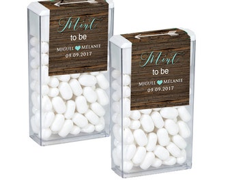 Mint To Be Tic Tac Label, Mint To Be Tic Tac Favors, Wedding, Bridal Shower Favors, Personalized Favor, Rustic Wedding Mint Favors
