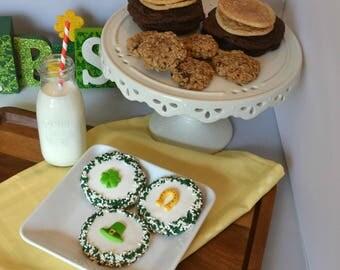 St. Patrick's Day Cookies, St. Patrick's Day Gift, Decorated Cookies, Homemade Cookies, Irish Gifts, Shamrock Cookies, Irish Cookies