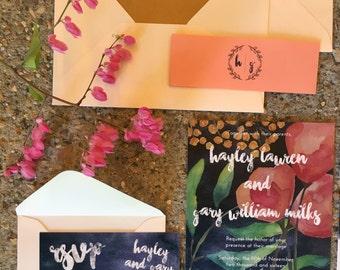 SAMPLE Wedding Invitation set