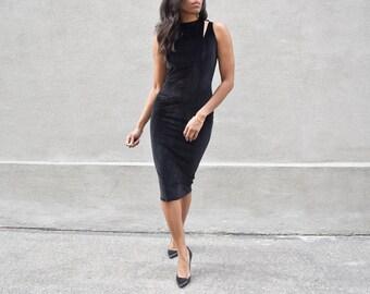 Double V Velvet Dress