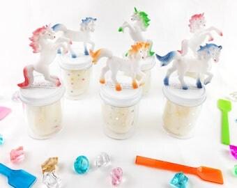 Unicorn Birthday Favors - Handmade Playdough - Unicorn Birthday - 6 pack