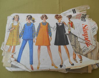 Sewing Pattern, Maternity Jumper Top Blouse Sewing Pattern 1960s, Vintage Sewing, Size 16 (UK) Bust 38""