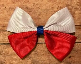 USA bow, hair bows, hair clips, girls hair bows, hair bows for girls, boutique bows, kids bows