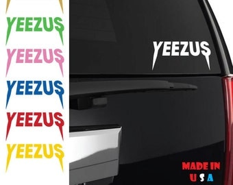 Yeezus Decal kanye west hip hop Band Music Yeezy R&B Rap Jay Z Beyonce rap iphone ipad macbook ANY SIZE