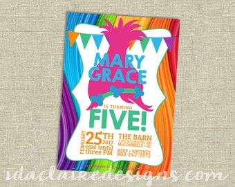 Birthday Party Digital Download | Trolls | Hair Up