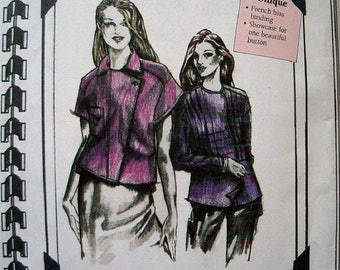 The Cutting Line Design 53001 Points & Pleats pattern Misses Size XS - XL Uncut Sewing Level - Experienced