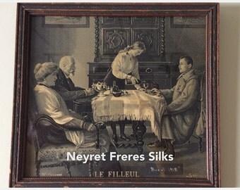 Neyret Freres Silks/Stevengraph/St. Etienne/Le Filleul (The Godson)/Joseph Guillen Simont/WW1 Military Neyret Freres Silk/Treaty of Brest