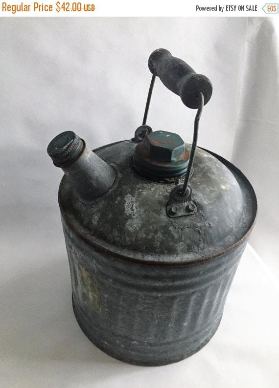 ON SALE antique gas can farmhouse decor by GlyndasVintageshop