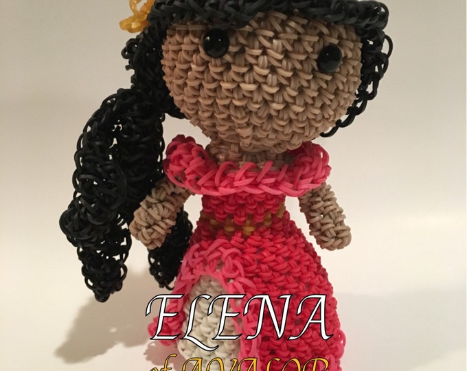Disney's Elena of Avalor Rubber Band Figure, Rainbow Loom Loomigurumi, Rainbow Loom Disney