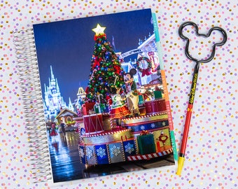 Disney World Erin Condren Life Planner Cover INSTANT DOWNLOAD - Christmas on Main Street